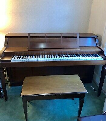 $695 • Buy BALDWIN ACROSONIC SPINET PIANO With Piano Bench Circa 1960-1965