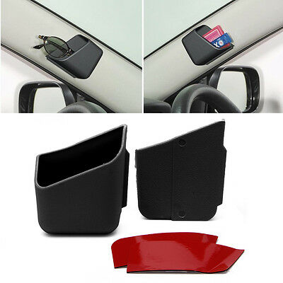 $5.99 • Buy 2pcs Black Car Auto Accessories Glasses Organizer Storage Box Holder Universal