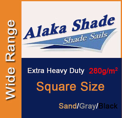 AU185 • Buy Extra Heavy Duty Shade Sail Cloth Sand Gray Black Square Sun Canopy 280GSM