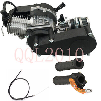 47cc 49cc 2-stroke Engine Motor +throttle Grips Cable Dirt Pit Bike Scooter Atv • 104.89$