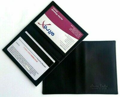 £3.99 • Buy Soft Black Credit Card Travel Pass Oyster ID Holder Genuine (Cow) Leather