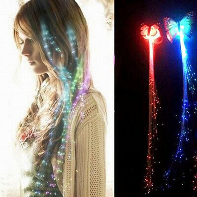 Glowing Colorful Butterfly Fake Braids Hair Accessory For Women Hair Decoration • 4.73$
