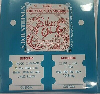$ CDN15 • Buy Snake Oil SOB Guitar Strings 10-48 Vintage L Jazz Set Fit Fender Gibson PRS