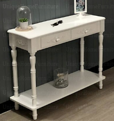 French Console Table Shabby Chic Furniture Vintage Hallway Storage Sideboard  • 95.95£