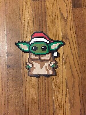 $20 • Buy Baby Yoda Perler Bead Christmas Ornament Decoration Homemade