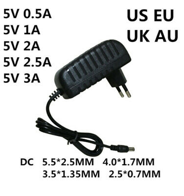 $ CDN5.49 • Buy 5V 0.5A 1A 2A 2.5A 3A AC100-240V Converter Power Adapter 5V 1000MA Power Supply