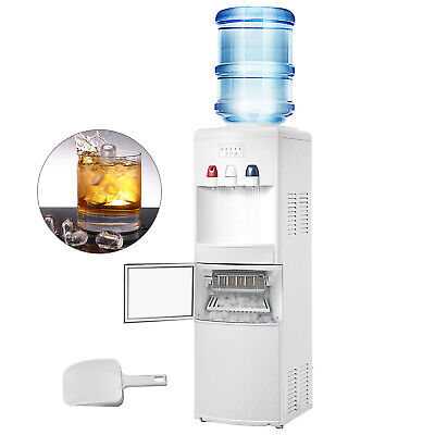Electric Water Cooler Dispenser Built In Ice Maker White Hot Cold Water Cooler • 259.97$