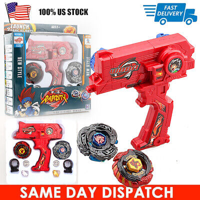 $11.15 • Buy 4D Beyblade Set Fusion Top Metal Rapidity Masters Launcher Grip Kids Toys Gift