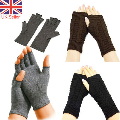 £2.95 • Buy Winter Fingerless Arm Warmer Gloves Hand Soft Mittens Protected Knitted Gloves