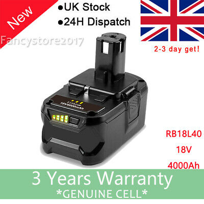 4.0Ah 18 VOLT ONE PLUS Lithium-Ion Battery For RYOBI P108 P105 High Capacity FS • 19.49£