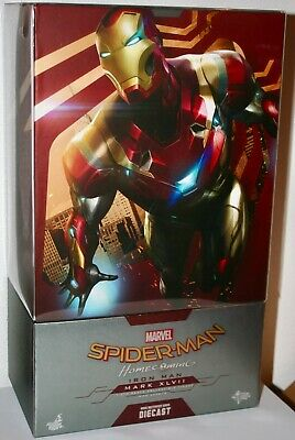 Hot Toys  MMS427-D19 Spider-man Homecoming Iron Man Mark 47 Diecast 1/6 Scale • 1,300$