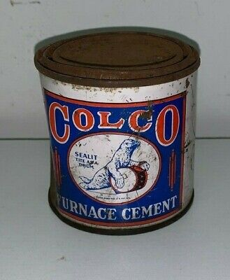 COLCO FURNACE CEMENT, 1 POUND TIN CAN (Seal On A Drum) • 5.57£