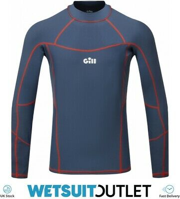 Gill Mens Pro Long Sleeve Rash Vest Top - Ocean - Lightweight UV Sun • 39.94£