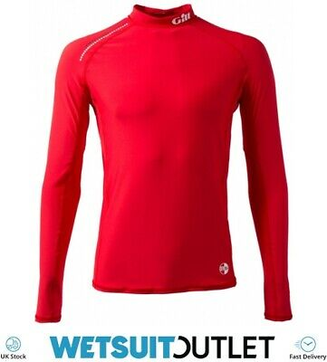 Gill Pro Rash Vest Top RED - Easy Stretch UV Sun Protection SPF Long Sleeve • 29.95£