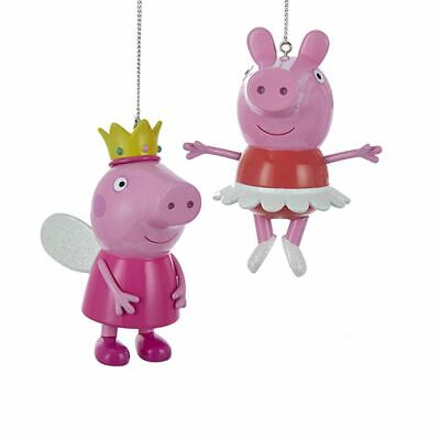 Kurt Adler Peppa Pig Ballerina Princess Blow Mold Christmas Ornaments Set Of 2 • 11.14£