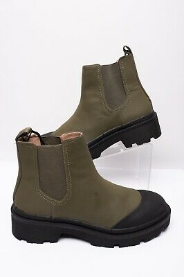 Zara Womens Technical Ankle Chelsea Boots Sz 9 Eu 40 Army Green Lug 7189/001 NW • 47.20$