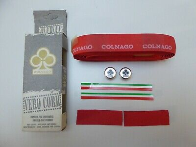 Vintage Nos COLNAGO Red White Cork Handle Bar Tape 4 Your RIde RARE • 64.05$