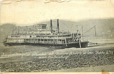 $15.49 • Buy Postcard Steamer Virginia Stranded Willow Grove WV March 6th 1910 Parkersburg