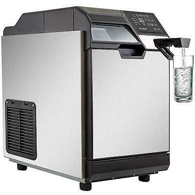 35KG/24H Ice Maker With Cool Water Dispenser 77LBS Transparent Window Clear Cube • 329$