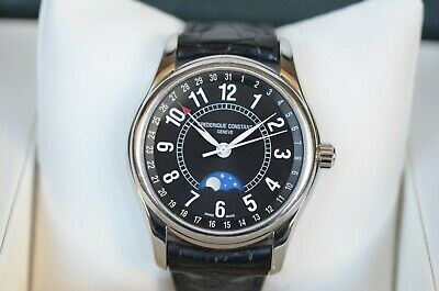 FREDERIQUE CONSTANT Moon Phase Automatic Watch W/Box Full Set • 900$
