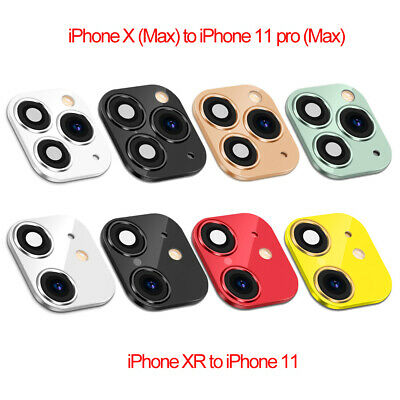 £5.73 • Buy Change For IPhone XR X To IPhone 11 Pro Max Fake Camera Lens Sticker Cover Case