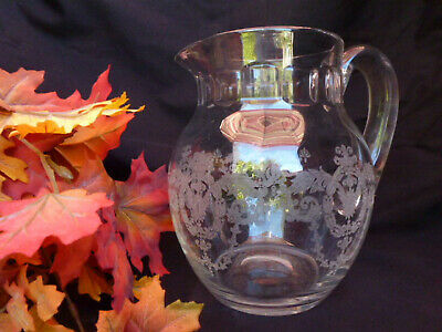 Morgantown 'Karma' Jug With Cecily Etching, Extremely Rare! & Mint!!! • 119.99$