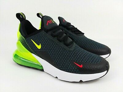 Nike Air Max 270 Running Shoes Black Volt Green Men's 7.5 / Womens Size 9 NEW  • 104.99$