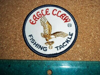 $ CDN19.99 • Buy VINTAGE EAGLE CLAW FISHING TACKLE PATCH Old Lures Rods Reels Fisherman Badge