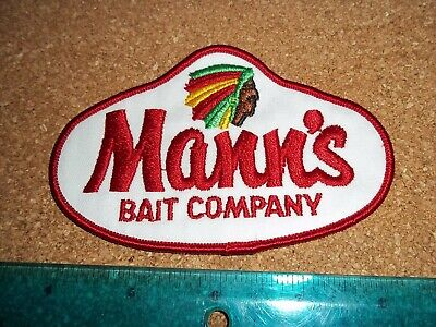 $ CDN19.99 • Buy VINTAGE MANNS BAIT FISHING TACKLE PATCH Old Lures Rod Reels Antique Collectible