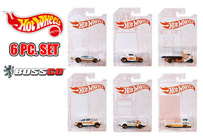 Hot Wheels 1/64 PEARL And CHROME Set Of 6 Cars, 55 Gasser, VW T2 Pickup,   • 14.99$
