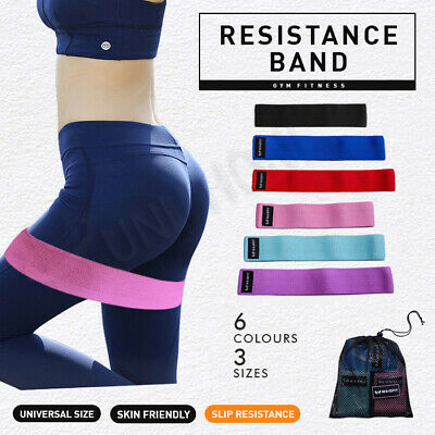 AU8.99 • Buy 【2020 New】Fabric Resistance Loop Bands Band Crossfit Strength Fitness GYM Glutes