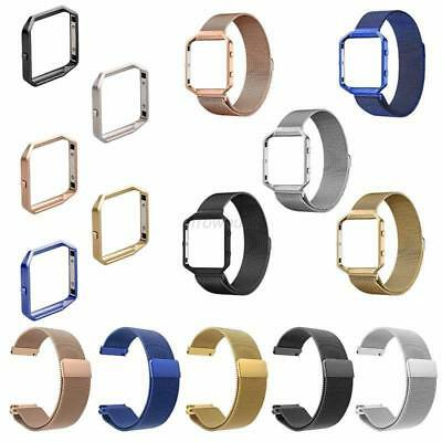 AU12.85 • Buy Milanese Magnetic Stainless Steel Wrist Band Strap +Metal Frame For Fitbit Blaze