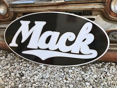 $199 • Buy Antique Vintage Old Style Mack Trucks Sign. Free Shipping.