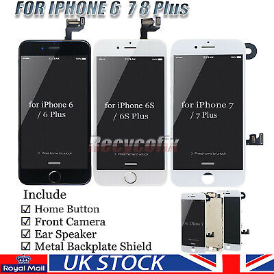 For IPhone 6 6S 7 8 Plus Screen Replacement LCD Digitizer Touch Display Camera • 14.99£