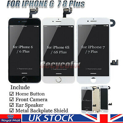 For IPhone 6 6S 7 8 Plus Screen Replacement LCD Digitizer Touch Display Camera • 20.79£