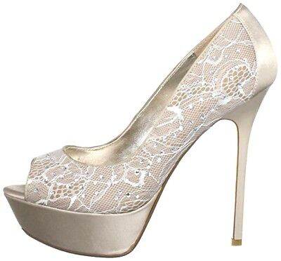 £79.99 • Buy Rp £110 Dune Size 7 8 40 41 Nude Or Black Lace Diamante Satin Dacia Di Shoes New