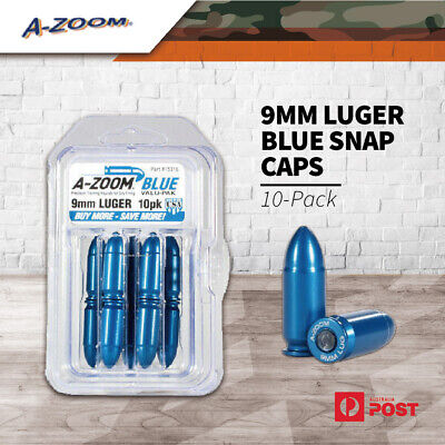 AU52 • Buy A-Zoom 9Mm Luger Blue Metal Pistol Training Snap Caps Dry Firing Dummy 15316