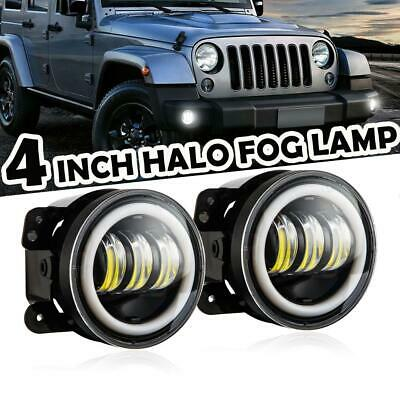 AU48.78 • Buy 2X 4 Inch 30W Round LED Fog Light Driving Lamp DRL For Jeep Wrangler JK