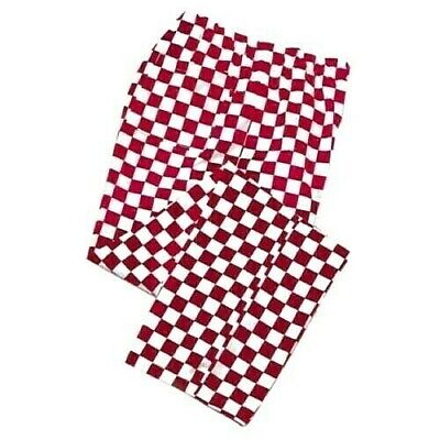 £7.80 • Buy Red And White Checkerboard Chef Trousers Unisex