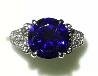 $85 • Buy 🛍Charles Winston Sapphire Surrounded In Diamond CZs Royal Look Size 5.25