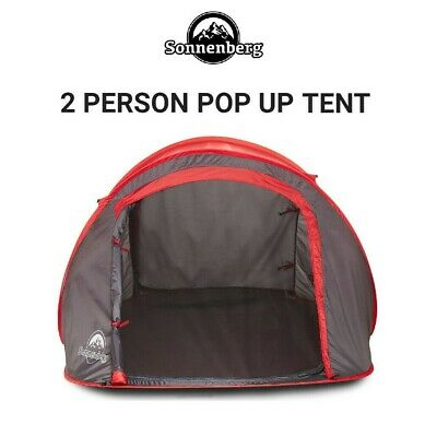 AU59.95 • Buy 2 Person Pop Up Beach Tent Camping Hiking Shelter W Roll Up Window & Carry Bag
