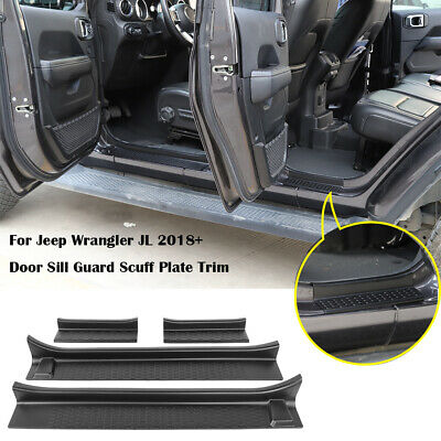 $45.80 • Buy Door Sill Guard Scuff Plate Trim For Jeep Wrangler JL 18-20 4Dr Gladiator JT 2Dr