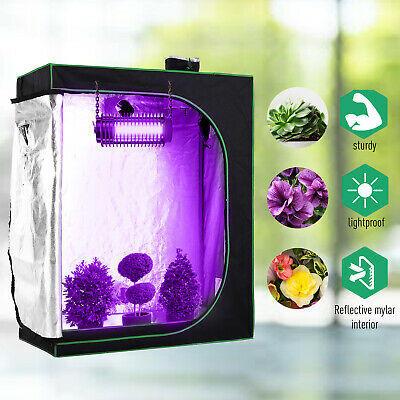 £54.99 • Buy Outsunny120*60*150cm Indoor Plant Grow Tent Green Room Hydroponic Canopy Mylar