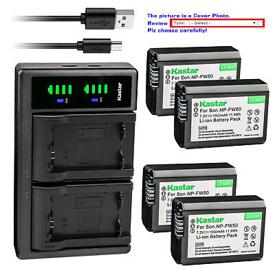 $ CDN37.75 • Buy Kastar Battery LCD Dual Charger For Sony NP-FW50 BC-VW1 & ILCE-6000 Alpha A6000