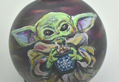 $39.95 • Buy Star Wars Baby Yoda Hand Painted Christmas Ornament Mandalorian The Child