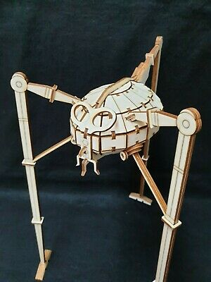War Of The Worlds 'Tripod' By HG Wells Wooden Laser Cut Model/Puzzle Kit • 18.99£