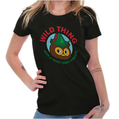 £6.51 • Buy Give A Hoot Don't Pollute Woodsy The Owl Gift Womens Short Sleeve Ladies T Shirt