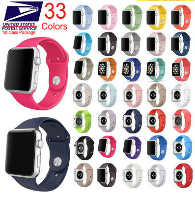 $ CDN7.04 • Buy Silicone Band Strap Apple Watch IWatch Sports Series 5/4/3/2/1, 44/42/40/38mm