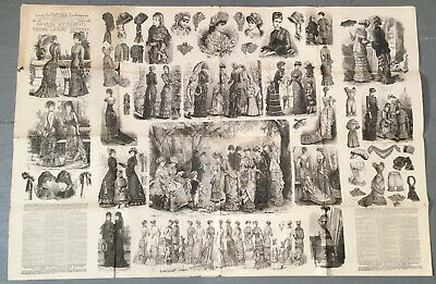 £54.35 • Buy RARE Antique 1880s YOUNG LADIES JOURNAL Advertising Flyer W Dressmaker Pattern