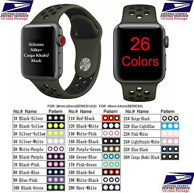 $ CDN7.43 • Buy Silicone Sport Band For NlKE Apple Watch 38 42 40 44mm Series 5 4 3 2 1 US Ship